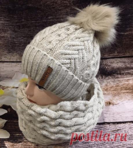 Красивый узор для шапочки спицами. Вязание зимних шапок спицами