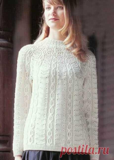 Для тех, кто вяжет / Описание вязания японского пуловера спицами | Для тех, кто вяжет / Узоры | Яндекс Дзен