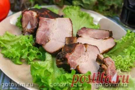 Копченые свиные ребрышки (сухой посол). Рецепт с фото