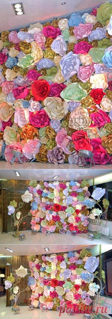 Фон из цветов   Фотозона в аренду (СПб) - Артмикс Декор