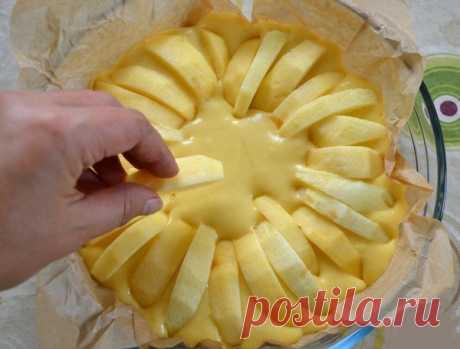 Для любителей выпечки с яблоками: Итальянский деревенский пирог    Теперь это моя фишка!          Ингредиенты:  Мука пшеничная—180 г Яблоко—4 шт Желток яичный—2 шт Сахар—140 г Масло сливочное—50 г Молоко—125 мл Разрыхлитель теста—4 г Соль—1 щепотка.  Приготовление…