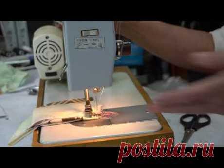 Как сделать закрепку нитки в начале или в конце строчки если у швейной машины нет реверса?
