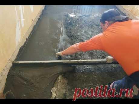Расход материалов Процесс заливки Цементной СтяЖки пола под Ламинат Линолеум Установка Маяков