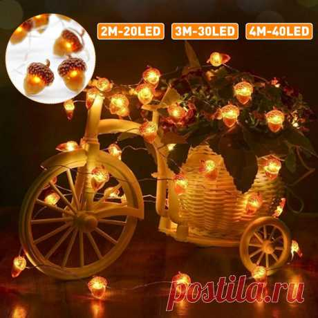 2m/3m/4m led acorn string light 8 modes waterproof christmas party decorative lamp with remote control Sale - Banggood.com