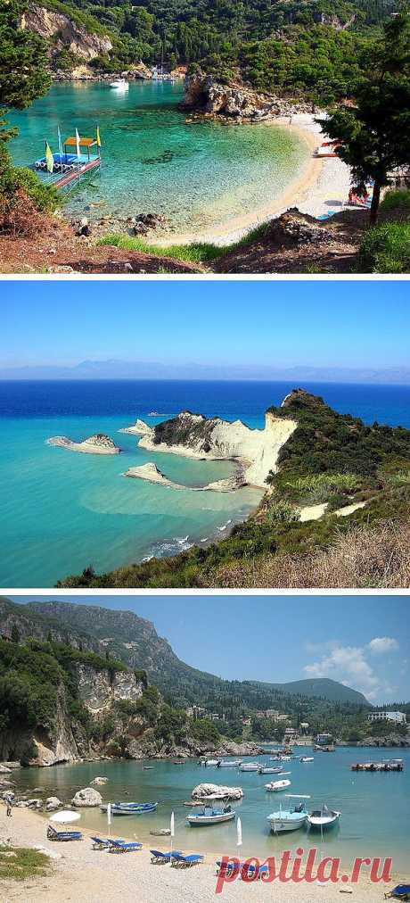 Many tourists like to have a rest at the same time in mountains and at the sea. There are such places on the planet where mountains actually flow into the sea. Greece, the island of Corfu will be excellent option