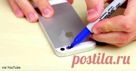 Он замазал вспышку на смартфоне синим маркером. Новая функция - волшебна! Вы будете поражены! Обещаем.