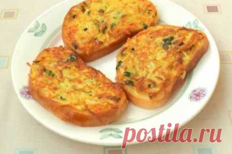 Гренки с картофелем и зеленым луком
