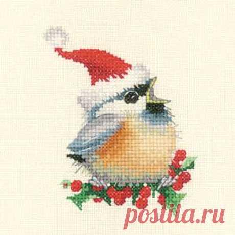 Забавные воробушки Валери Пфайфер: Новогодний.