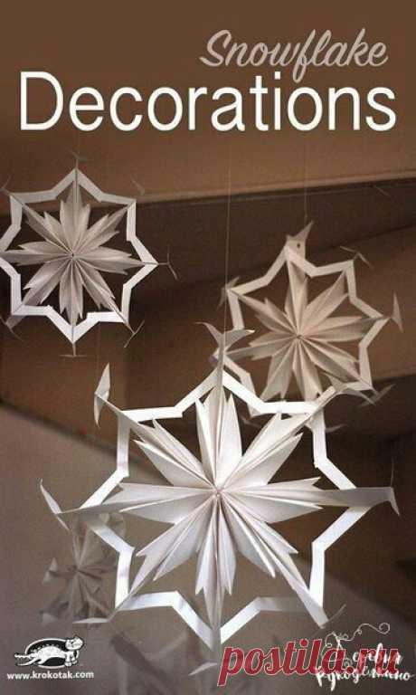 Негеометрические снежинки (diy)