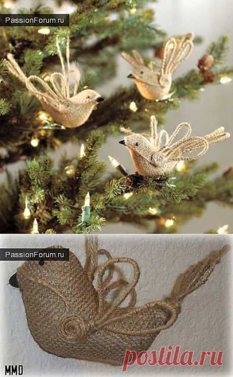 BIRDIES (from a sacking) \/ the Tilde. Master classes, patterns. \/ PassionForum - master classes in needlework