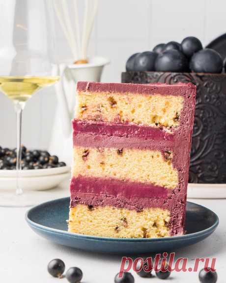 Бисквитный торт «Смородина в шоколаде»