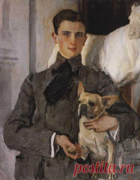 Портрет графа Ф.Ф.Сумарокова-Эльстон, впоследствии князя Юсупова, с собакой. 1903      Валентин Александрович Серов (1865-1911). Часть 1: vakin