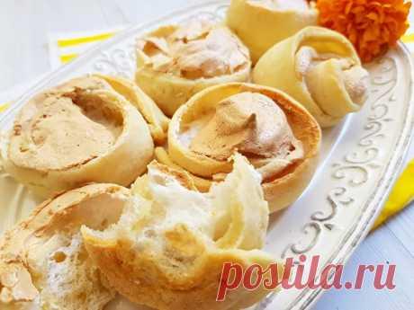 Печенье Розочки на сметанном тесте с белковым кремом