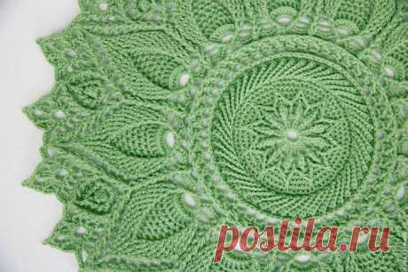 Описание вязания и схемы салфеток крючком  - Crochet - Modnoe Vyazanie