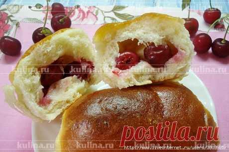Пирожки с вишней - легкие, как пух, от души наполненные сладкой вишней