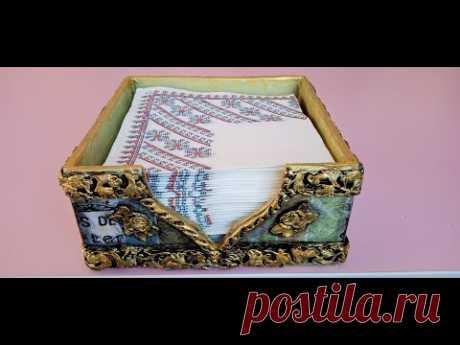 DIY suport servetele vintage - DIY TUTORIAL napkin holder vintage