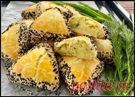 Очень вкусные турецкие пирожки без дрожжей: много начинки и мало теста!
