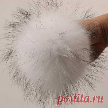 Помпоны из натурального меха DANKEYISI, 15 16 см, шарики Помпоны из меха енота и лисы для шапки, сумки, аксессуары для шарфа|real fur pompom|fur pompomfur pompon | АлиЭкспресс