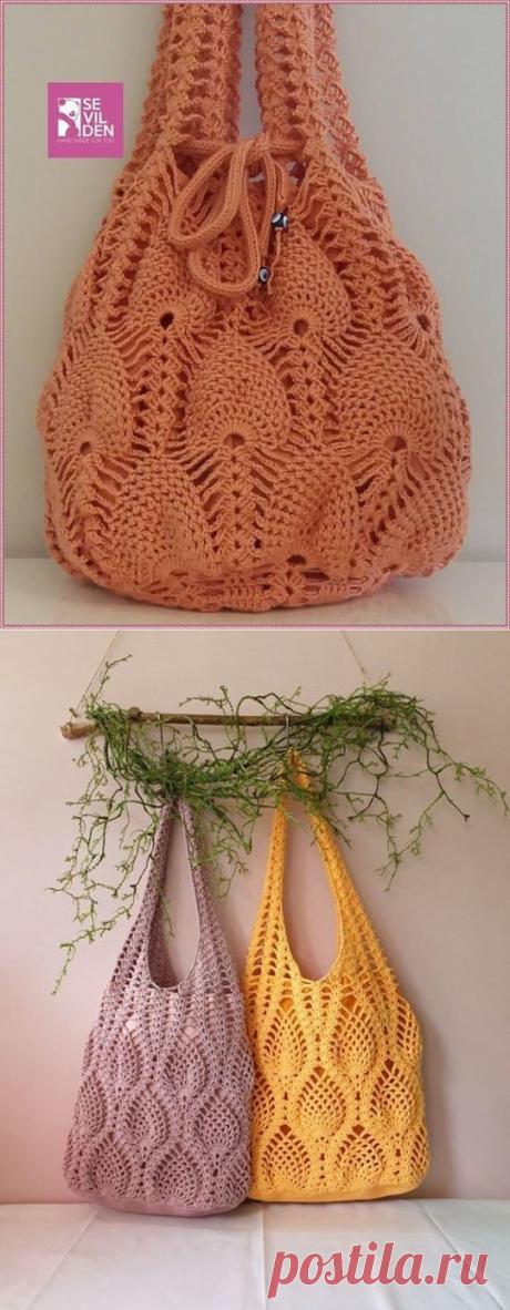 Сумка-авоська (Вязание крючком) – Журнал Вдохновение Рукодельницы