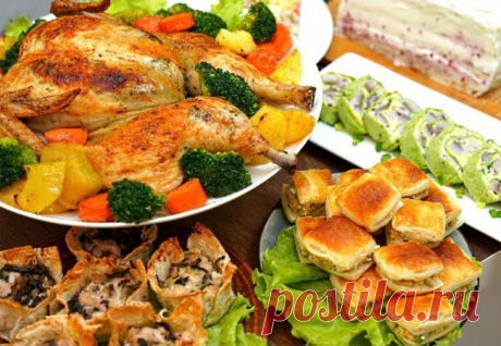 Стол для гостей из простых продуктов собрали за 2 часа: готовим разом 8 рецептов