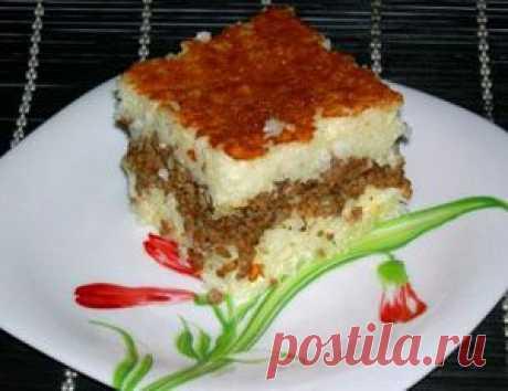 Запеканка с рисом и фаршем в мультиварке - Запеканка в мультиварке . 1001 ЕДА вкусные рецепты с !