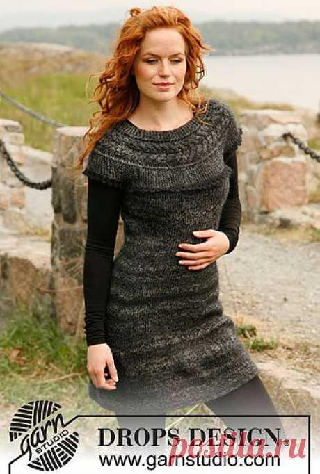 Красивое вязанное платье..
