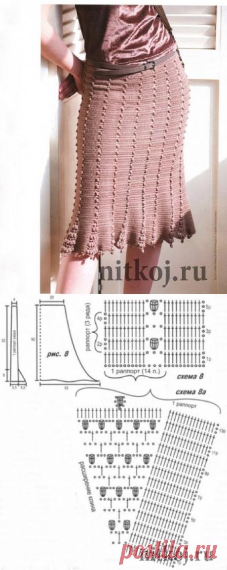 Юбка крючком, схема от дизайнера Sitki Semsch » Ниткой - вязаные вещи для вашего дома, вязание крючком, вязание спицами, схемы вязания