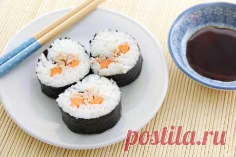 Роллы с консервированным тунцом - пошаговый кулинарный рецепт на Повар.ру