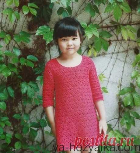 Детское ажурное платье крючком. Вязание Крючком платья для детей схемы скачать Бесплатно