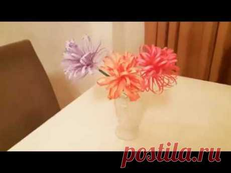 Как сделать цветок из цветной бумаги - How to make flower paper