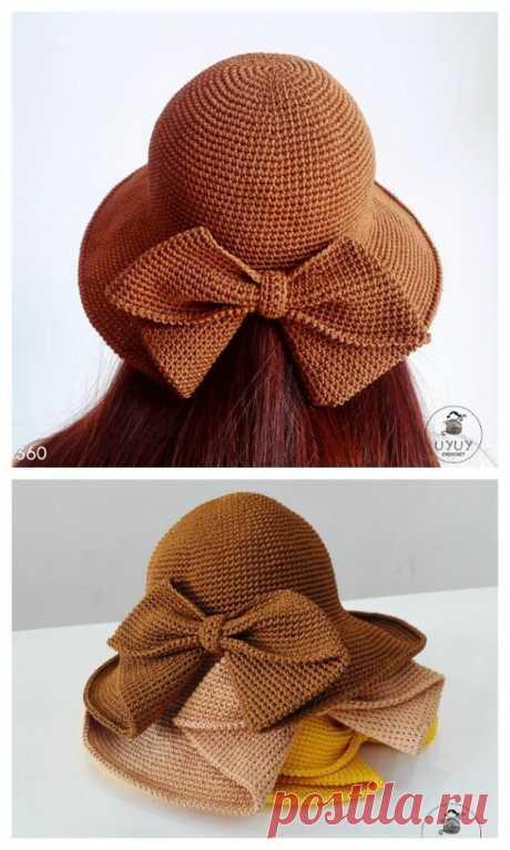Летние шляпки, связанные крючком. 3 любопытных идеи со схемой вязания - стильно, красиво и просто   Мое хобби   Яндекс Дзен