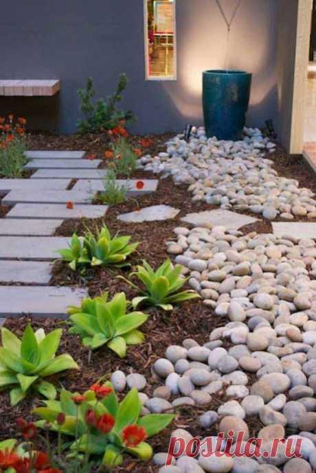 Интересная подборка вариантов ландшафтного дизайна с камнями