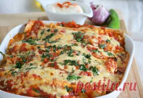 Enchiladas with chicken