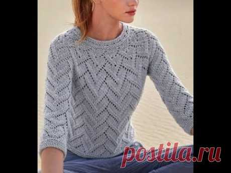 Pullover spokes (round coquette). Part 1. We knit a sample.