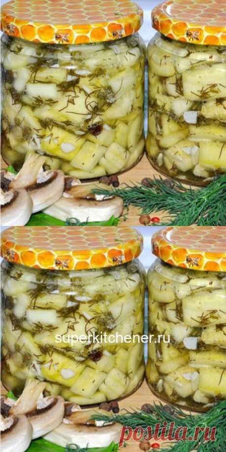 Хрустящие, ароматные, схожие с грибами кабачки «Под грузди» - просто пальчики оближешь!