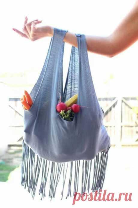 Самая простая сумка из майки