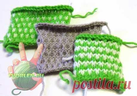 Крапинки – симпатичный полу патентный узор спицами для вязаной одежды - Творим-не ленимся!