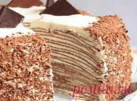 ТОРТ КРЕПВИЛЬ Вам потребуется: ИНГРЕДИЕНТЫ (на торт d = 22 см) Тесто для коржей: - 80 г сливочного масла комнатной температуры...#торт...