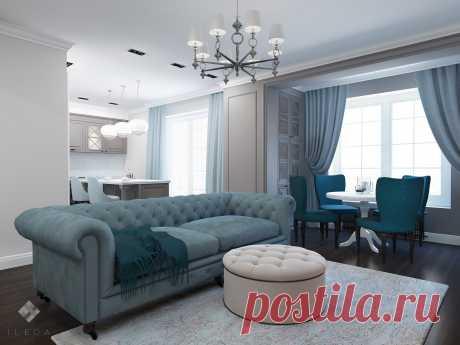 Изысканный серый в классическом интерьере квартиры в Минске по ул. Литературная