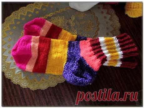Как вязать носки с прямой пяткой