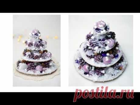 DIY Простая елка из картона и шишек  природных материалов Christmas Tree Xmas Tree DIY Tutorial