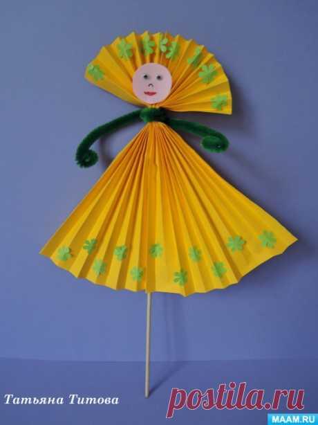 Мастер-класс по изготовлению сувенирных кукол из бумаги. Воспитателям детских садов, школьным учителям и педагогам - Маам.ру