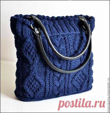 Симпатичные вязаные сумочки.  Идеи.