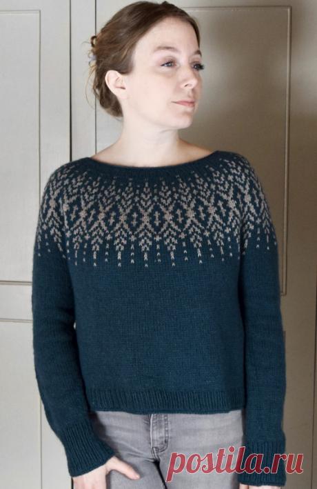 Вязаный пуловер Silverlining | ДОМОСЕДКА
