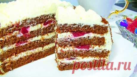 Творожно-вишневое чудо за полчаса! Потрясающий торт к любому торжеству! – В РИТМЕ ЖИЗНИ