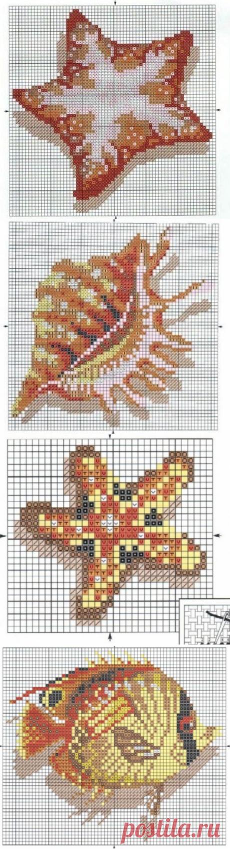 Схемы для вышивки: орхидеи и морская тематика / Схемы / Бусинка