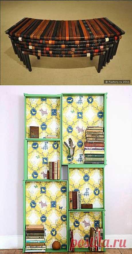 Скамейка из ремней и шкаф из ящиков / Мебель / Модный сайт о стильной переделке одежды и интерьера