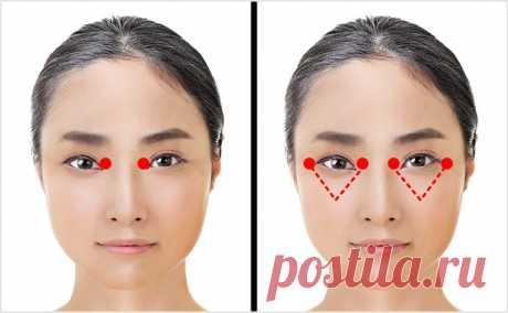 Японская техника для омоложения зоны вокруг глаз. Занимает всего 1 минуту