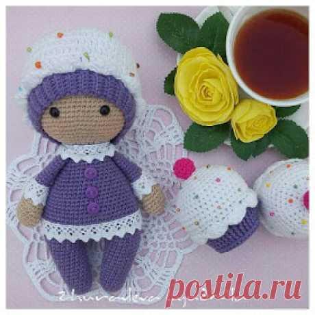 AmiguRoom: вяжем амигуруми: Кукла Пироженка
