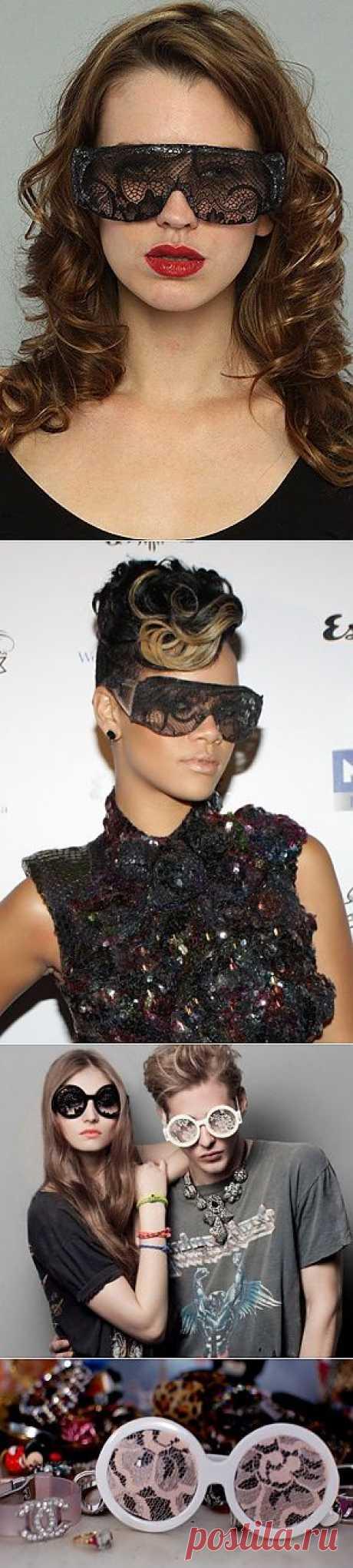 Кружевные очки / Декор очков / Модный сайт о стильной переделке одежды и интерьера